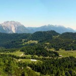 Il pascolo di Pian dei Buoi, dal Col dei Buoi fino a Soracrepa, passando per la torbiera del Palù Gran con in evidenza la dorsale dei Colli