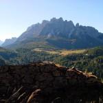 Da una postazione di Col Vidal verso l'altopiano di Pian dei Buoi e il M. Ciarìdo