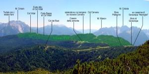 """Mappatura approssimativa dell'estensione dell'areale """"PdB"""" (Pian dei Buoi)"""