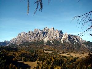 Un secondo punto di vista verso l'areale Ciareido da una postazione nei pressi del Col Vidal