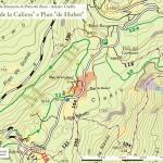 """Cartina degli interventi: Pian """"de la Caliera"""" e Pian """"de Huber"""""""