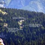 Foto scattata dalla forcella S. Lorenzo con in chiara evidenza il cono visuale ripristinato