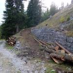 Di nuovo l'imbocco della strada a lavori di ripristino completati