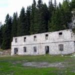 Il lato nord della caserma di Vidal Basso dopo la pulizia
