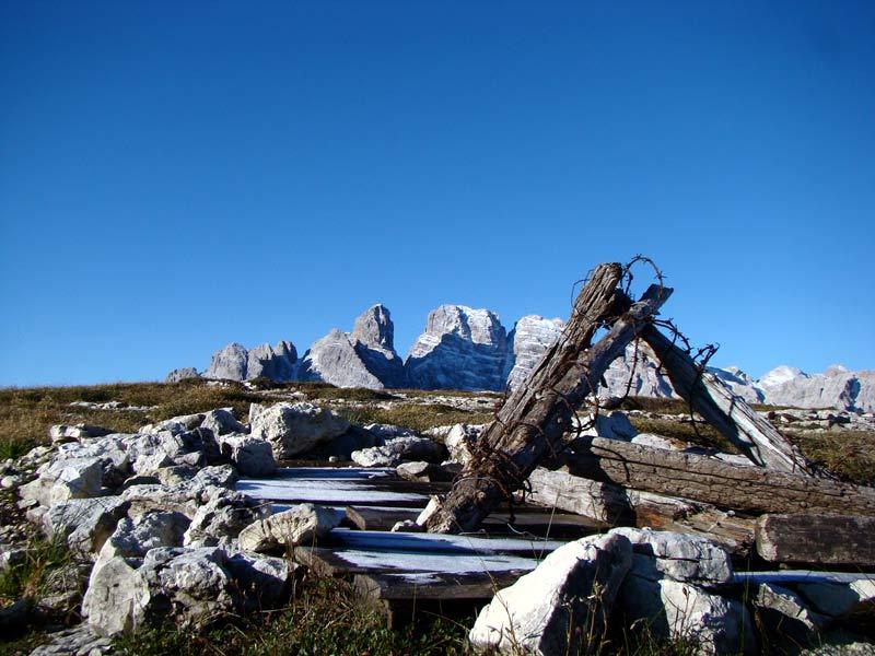 Monte Piana, Museo all'aperto: dalla sommità verso il gruppo del Cristallo