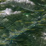 Il PdM in 3D (da Google Earth): la vallata del Centro Cadore in tutta la sua estensione, da Auronzo a Pieve di Cadore