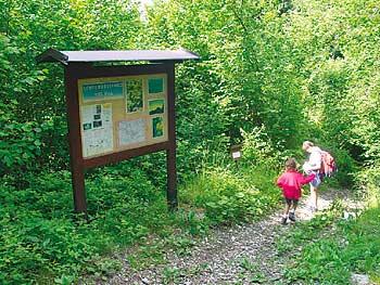 Un tratto del sentiero botanico Tita Poa
