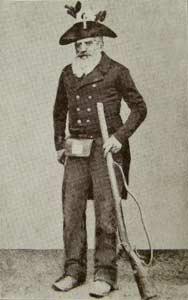 Volontario del 1848 nella divisa dei Corpi Franchi (Barnaba Barnabò<br />  da Lozzo)