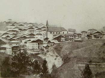 Lozzo prima dell'incendio del 1867