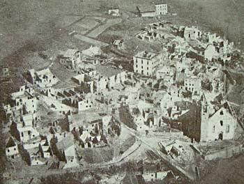 Lozzo dopo l'incendio del 1867