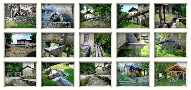 Galleria Roggia dei mulini: ruota, roggia e lavatoio