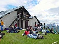 il rifugio Ciareido è molto frequentato dai giovani escursionisti