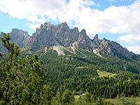 Il monte Ciarìdo dai colli di Pian dei Buoi